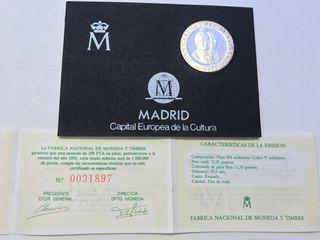Moneda Plata 200 Pesetas 1992 Madrid Cultura