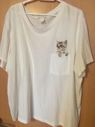 Camiseta gato h&m