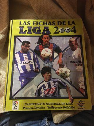 Album con cromos futbol 2003-04