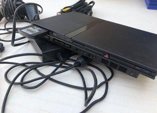 PlayStation 2 Slim + accesorios + 10 juegos