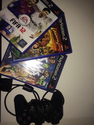 Mando PS2 y 4 juegos