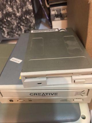 Lector grabador de cd y disquetera