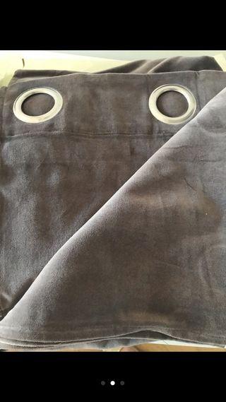 Cortinas gris terciopelo