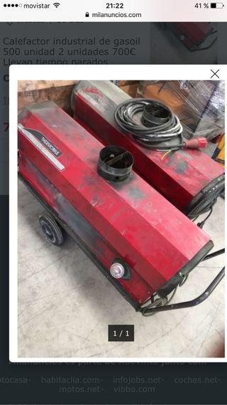 2 unidades Calefactor industrial cañón de calor