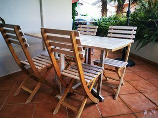 Conjunto de mesa + sillas