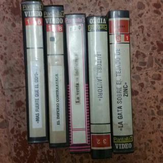 LOTE 13 ESTUCHES VHS