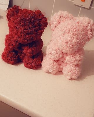 Stunning handmade rose bears
