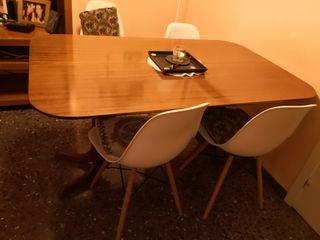 Mesa de libro color cerezo