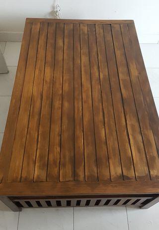 Mesa centro estilo colonial madera