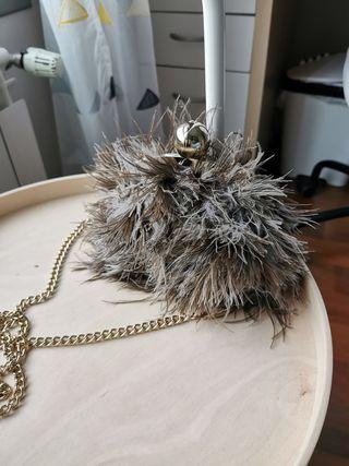 Kate Spade mini bandolera pelo de avestruz
