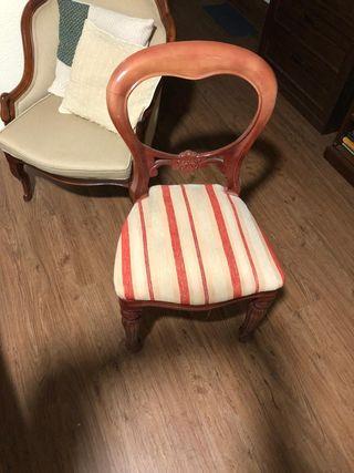 cuatro sillas isabelinas antiguas