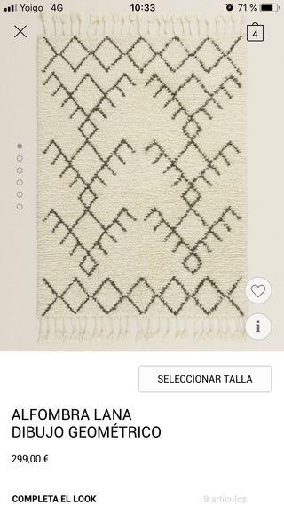 Alfombra lana bereber zara home