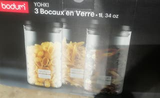 Recipientes de vidrio para pastas y legumbres