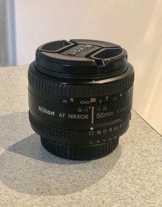 Objetivo Nikon 50mm 1:1.8D