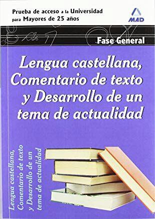 Libros prueba de acceso a la universidad