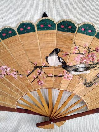 Abanico de madera, China o Japón