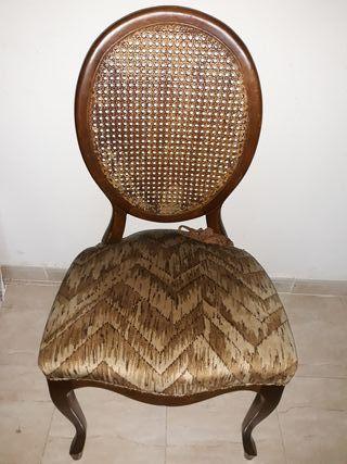 silla rejilla Luis XVI madera