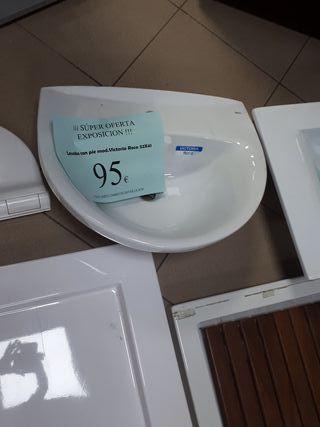 Lavabo con pie 52x41 Roca