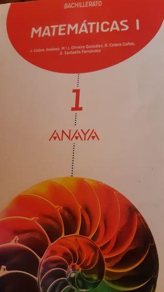 Libro Bachillerato Anaya Matecaticas
