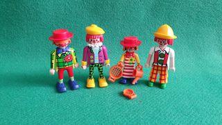 Playmobil Lote de 4 Payasos Circo