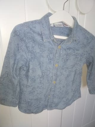 camisa vaquera de Mickey mouse