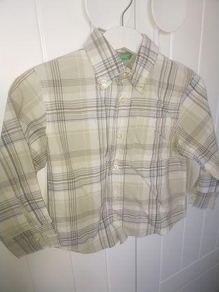 camisa de cuadros de Benetton