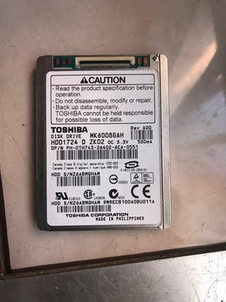 Disco duro toshiba HDD MK6008GAH 60gb