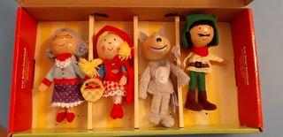 marionetas dedo Caperucita roja
