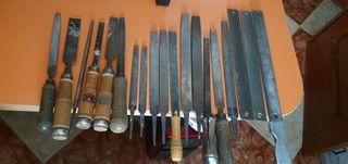 Formones y limas para madera y metal