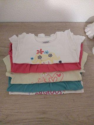 LOTE 5 camisetas niña