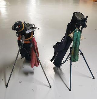 Bolsas y palos de Golf