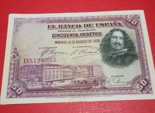 50 pesetas 1928 de Velazquez