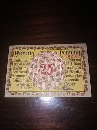Billete Notgeld 25 Pfennig