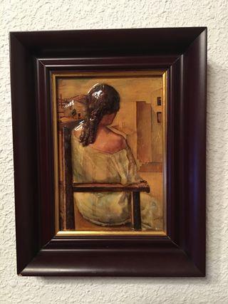 Cuadro: muchacha de espaldas. Dalí