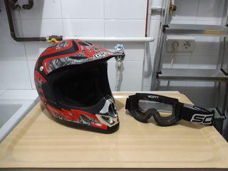Casco motocross agv rc-5 pro skulls + gafas