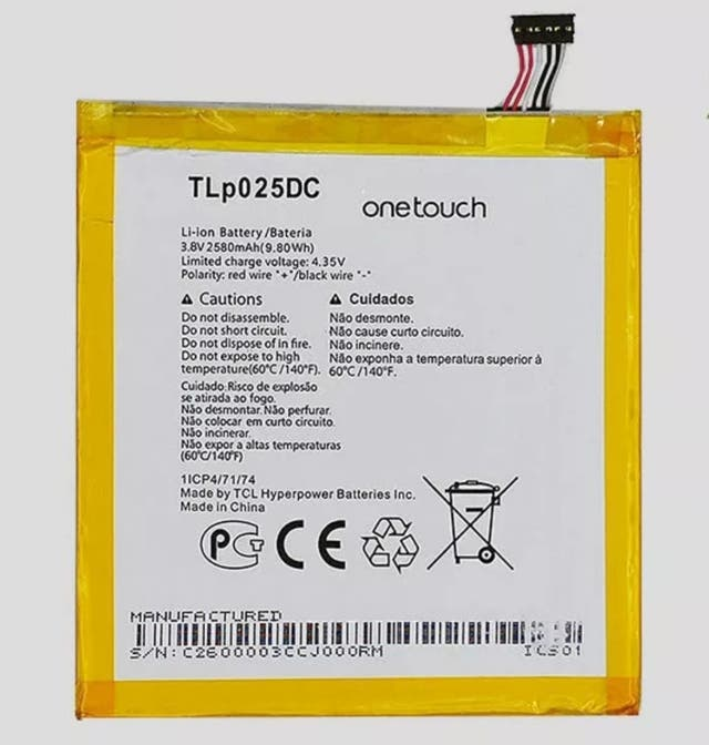 batería nueva TLp025DC
