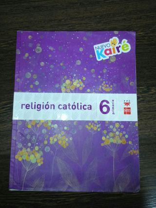 libro de religión 6 de primaria