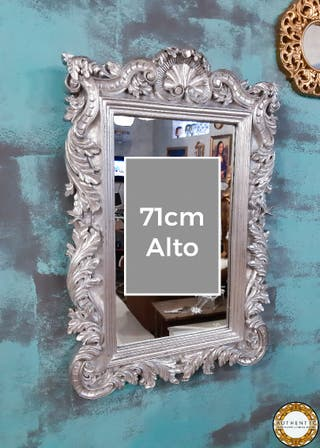 Espejo Barroco Plata 71cm Alto