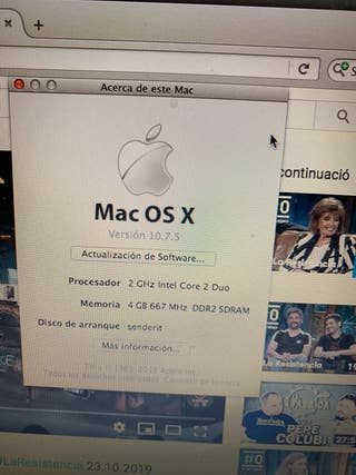 Macbook 4GB RAM 256GB ssd