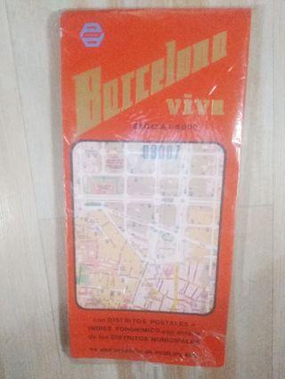 Callejero mapa de Barcelona'90