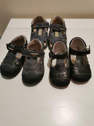 lote 3 pares zapatos pablosky talla 19.