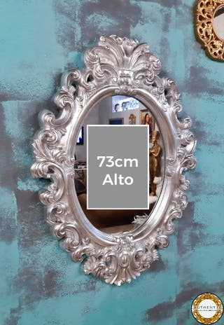Espejo Barroco Plata 73cm Alto
