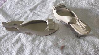 Zapatos beige tacón t 38