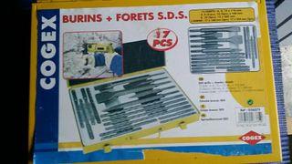 Maletin metalico 17 piezas brocas sds y cinceles