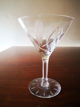 Vasos de cristal vintage