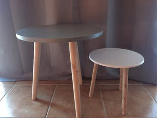 2 Mesas auxiliar. Tienda casa 44,5 cm alto