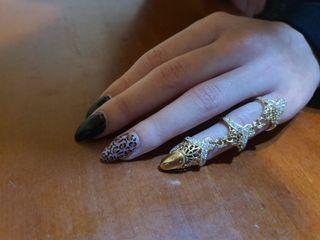 anillos con una de oro