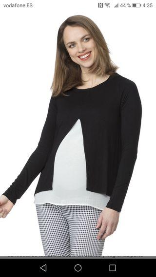 Camiseta premamá y para lactancia materna