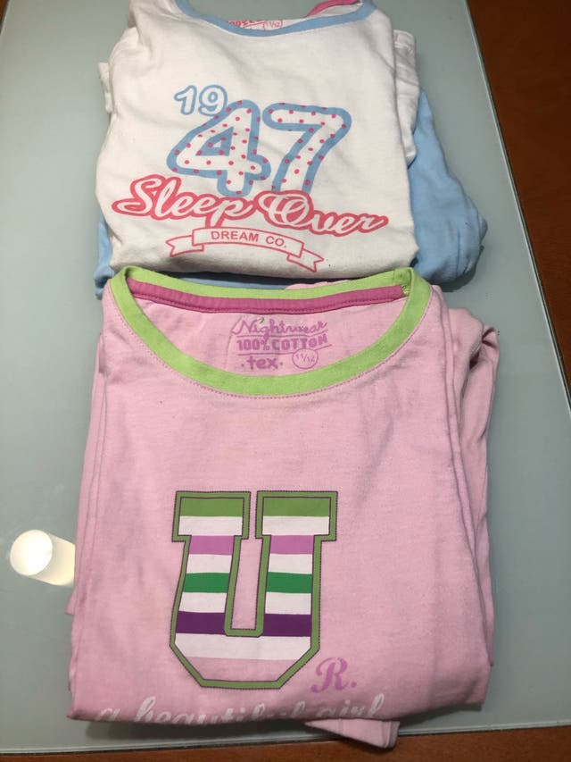 Dos pijamas finos niña 11 años