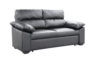 Sofá cama [17032C]--(Blanco/negro/gris)
